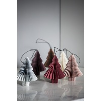 Dusty Rose Paper Tree  Ornament