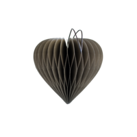 Classic Grey Paper Heart Ornament