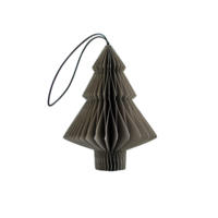 Classic Grey Paper Tree Ornament H10cm