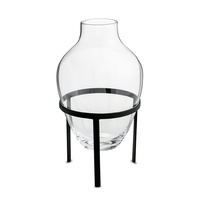 Adorn Glass Vase w. Black stand