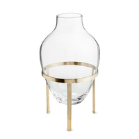 Adorn Glass Vase w. Matt Brass Stand