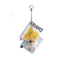 by Wirth Magazine Hang Out magazine holder - Nature Leather