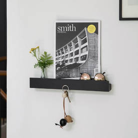 Magnetic Shelf Black Oak 60cm